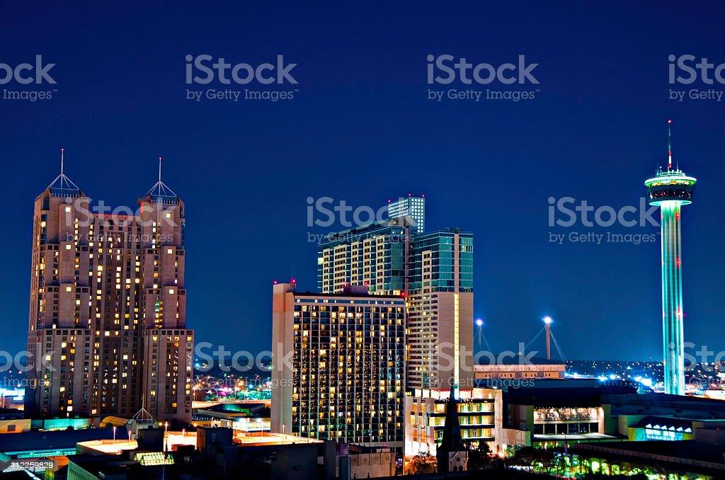 San Antonio Texas City  Aerial Tower of  the America's stock photo