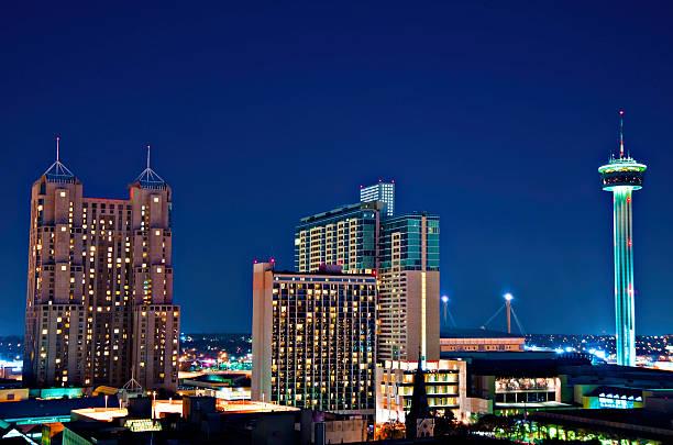 San Antonio Texas City  Aerial Tower of  the America's  san antonio texas stock pictures, royalty-free photos & images