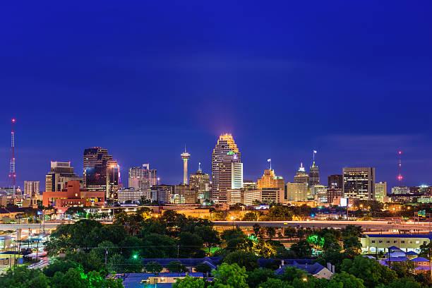 San Antonio Texas Skyline San Antonio, Texas, USA skyline. san antonio texas stock pictures, royalty-free photos & images