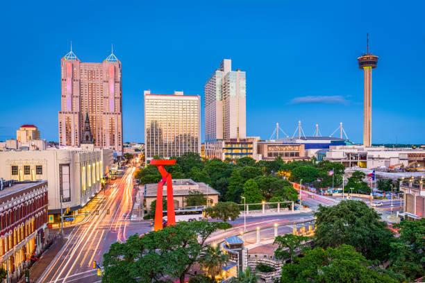 San Antonio, Texas, USA San Antonio, Texas, USA skyline. san antonio texas stock pictures, royalty-free photos & images