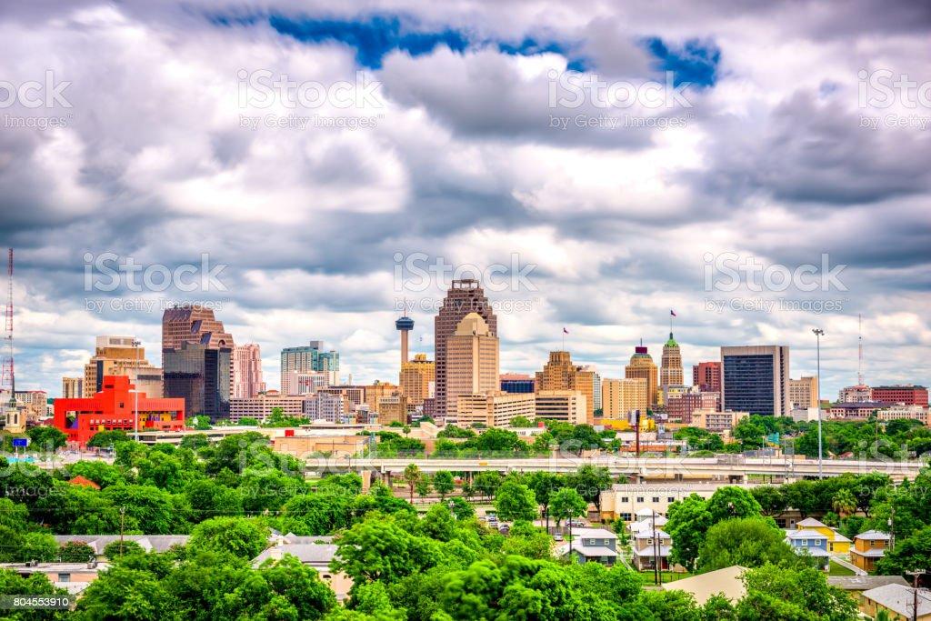 San Antonio, Texas, USA Skyline stock photo
