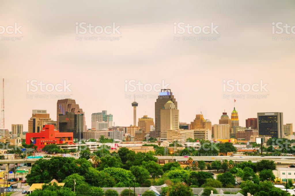 San Antonio, TX cityscape stock photo