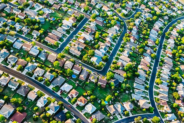 San AntonioTexas  suburban housing development neighborhood - aerial view San AntonioTexas  suburban housing development neighborhood - aerial view san antonio texas stock pictures, royalty-free photos & images