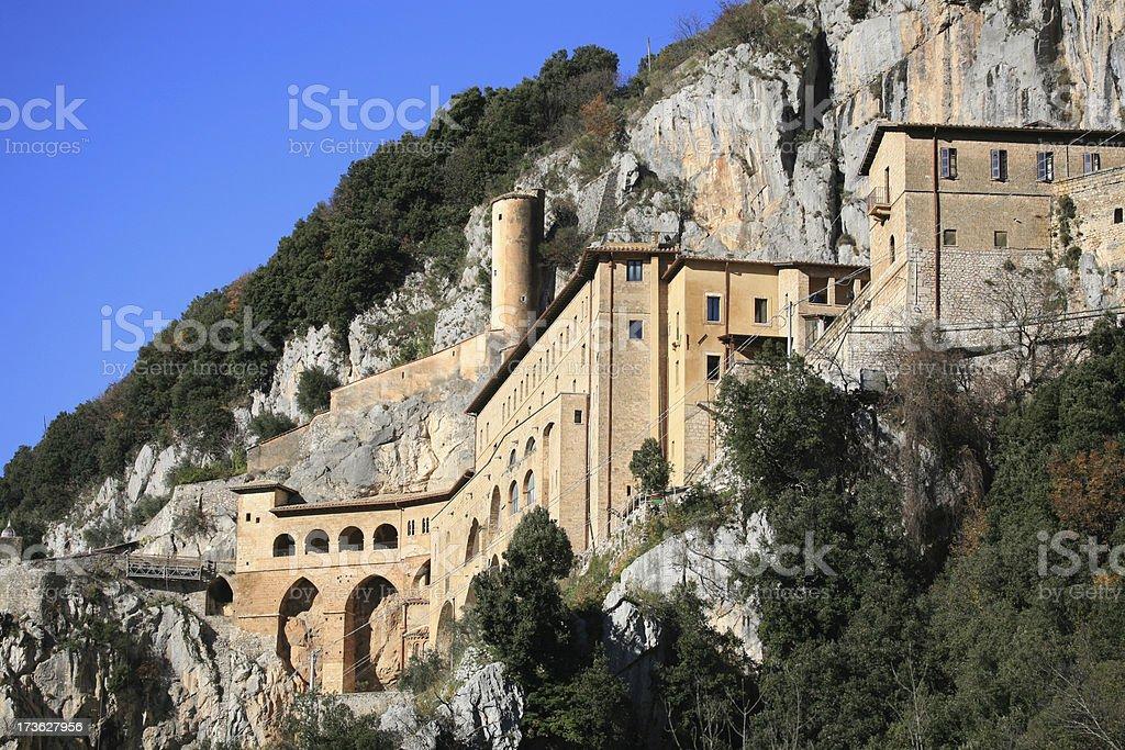 San Benedetto Monastery, Subiaco Lazio Italy royalty-free stock photo