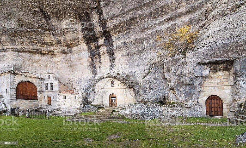 San Bernabe Cave, Burgos, Spain royalty-free stock photo
