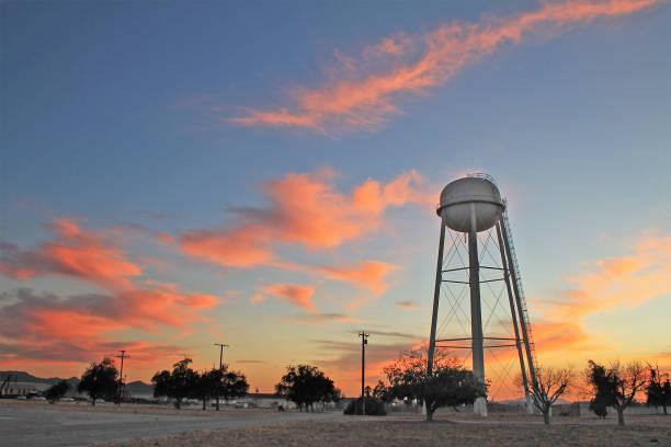 San Bernardino Airport Sunset stock photo