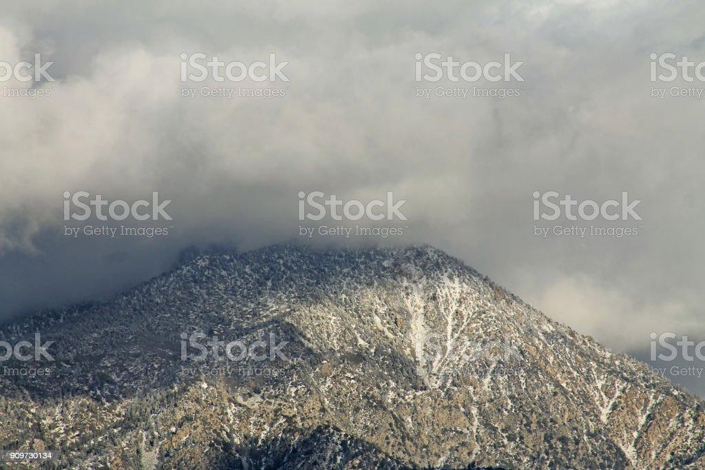 MT San Bernardino clouds close up Close up of Mount San Bernardino after a snow storm Cloud - Sky Stock Photo