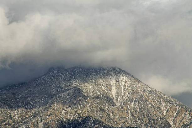 MT San Bernardino clouds close up stock photo