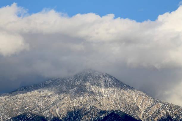 MT San Bernardino clouds stock photo