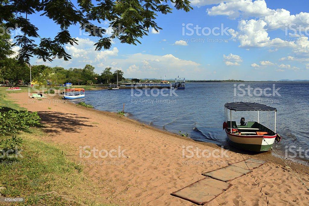 San Bernardino, Paraguay: the beach stock photo