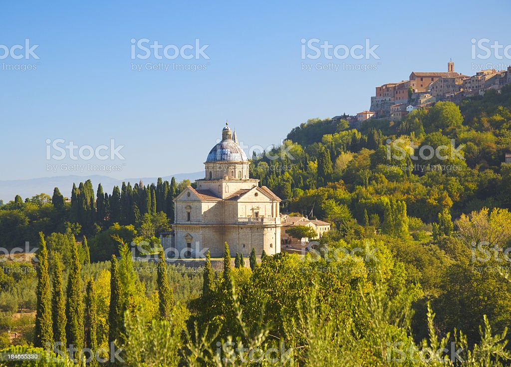 San Biagio church. Montepulciano (Tuscany) stock photo