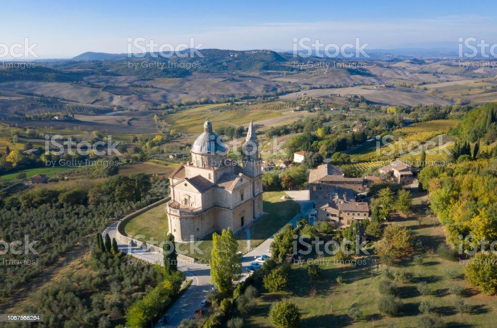 Kirche San Biagio, Montepulciano, Toskana, Italien – Foto