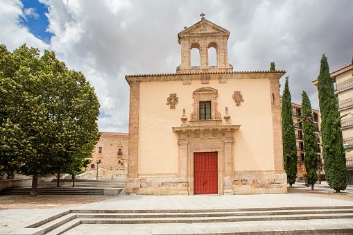 Salamanca, spain - july 22, 2021. san blas auditorium