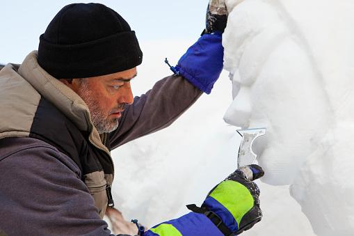 San Candido Snow Festival, Artist Working