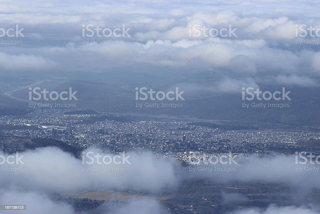 San Carlos de Bariloche - Aerial view royalty-free stock photo