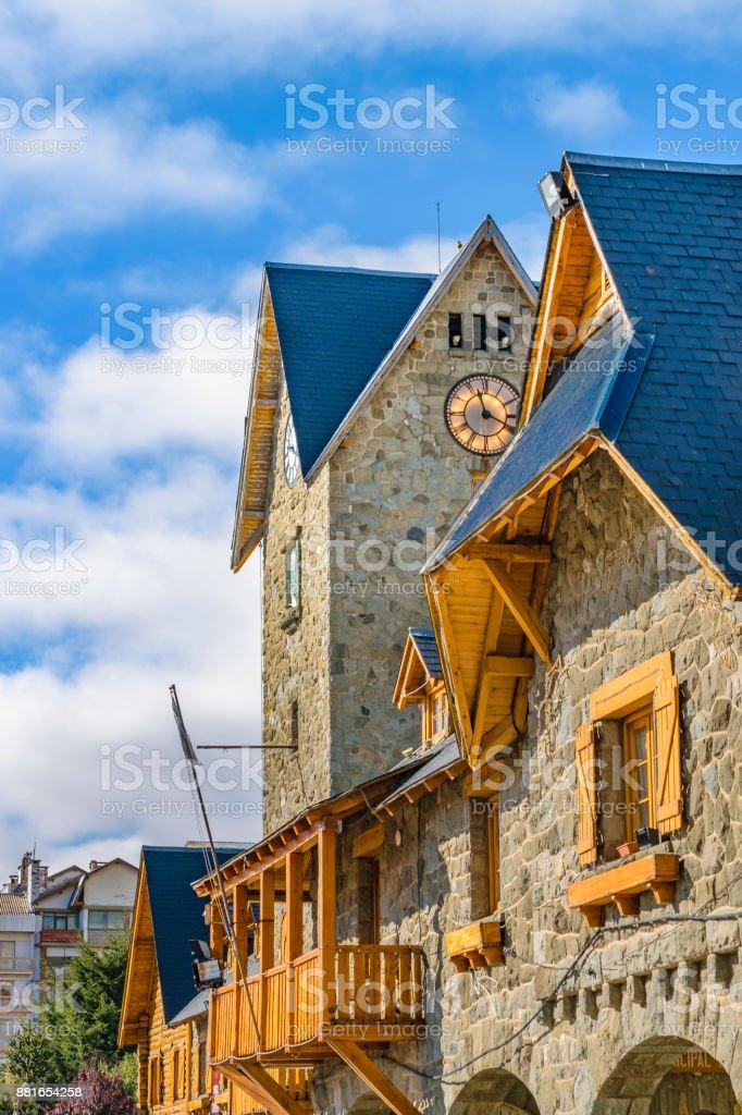 San Carlos de Bariloche Civic Center Building stock photo