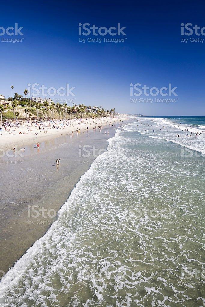 San Clamente Beach, California royalty-free stock photo