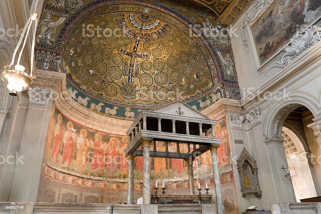 San Clememte Basilica In Rome stock photo