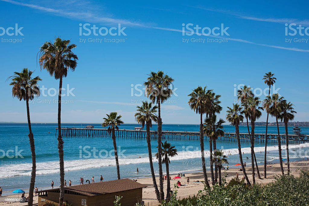San Clemente Beach Scenic View stock photo