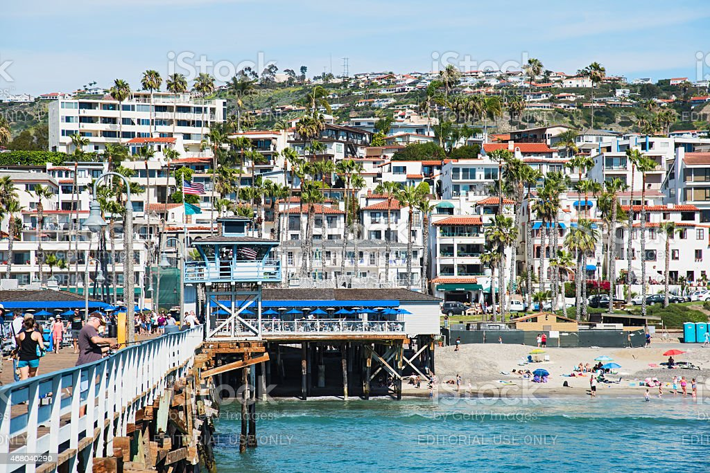 San Clemente California View from the Pier stock photo