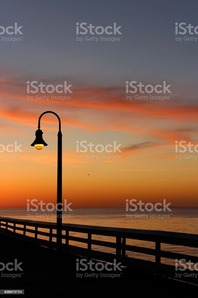 San Clemente Gold Sunset 4 stock photo