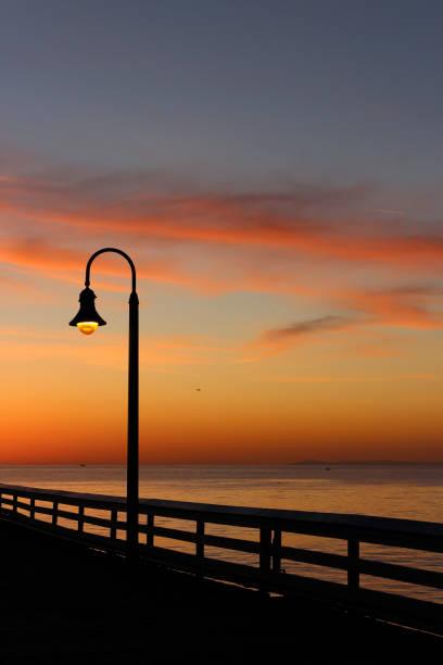 San Clemente Gold Sunset 4 stock photo