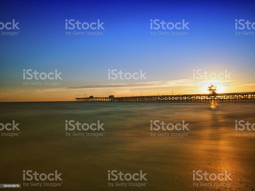 San Clemente Pier at Sunset stock photo