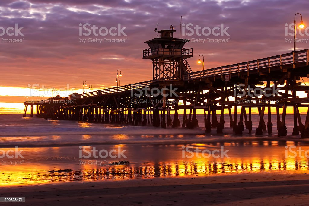 San Clemente Pier Gold stock photo