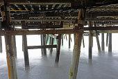 underneath the san clemente pier