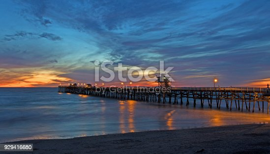 San Clemente pier during sunset