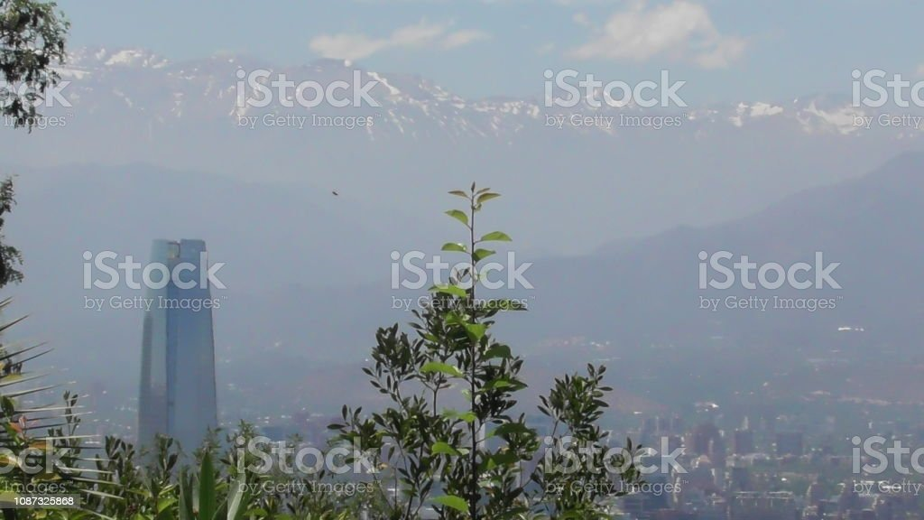 San Cristóbal Hill, Santiago, Chile stock photo