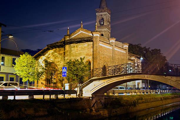 San Cristoforo Kirche. Farbe Bild. Milan, – Foto