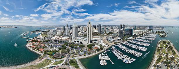San Diego Aerial Panoramic stock photo
