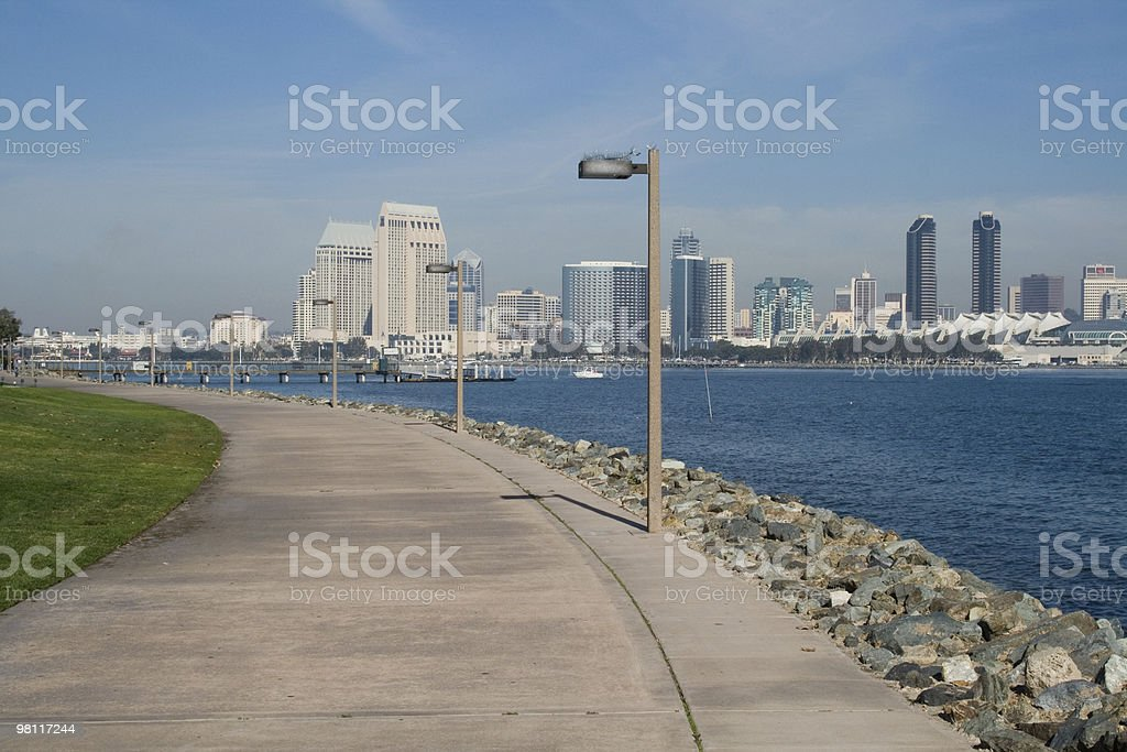 San Diego and Bike Path royalty-free stock photo