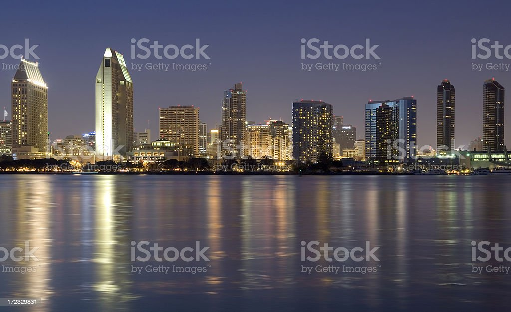 San Diego at night royalty-free stock photo