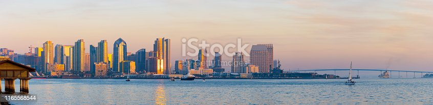 San Diego Bay with downtown skyline in the background
