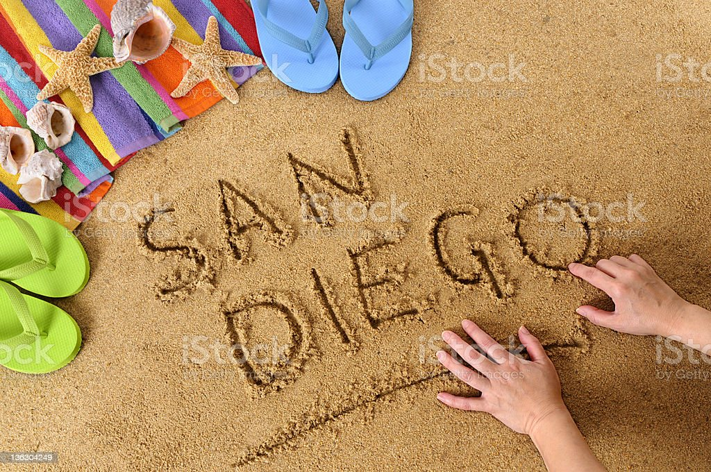 San Diego beach scene royalty-free stock photo