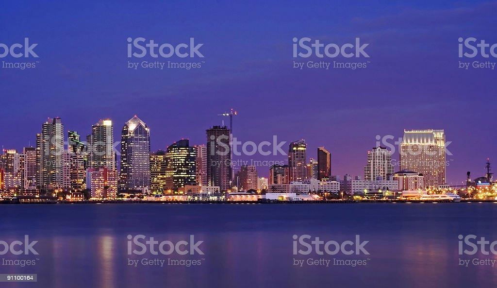 San Diego by Night 1 stock photo