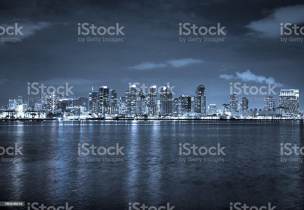 San Diego By Night royalty-free stock photo