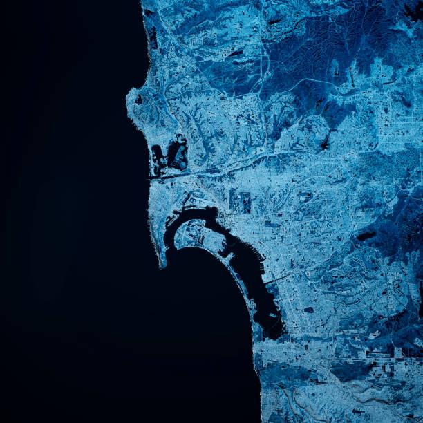 San Diego California 3D Render Blue Top Ansicht Jan 2019 – Foto
