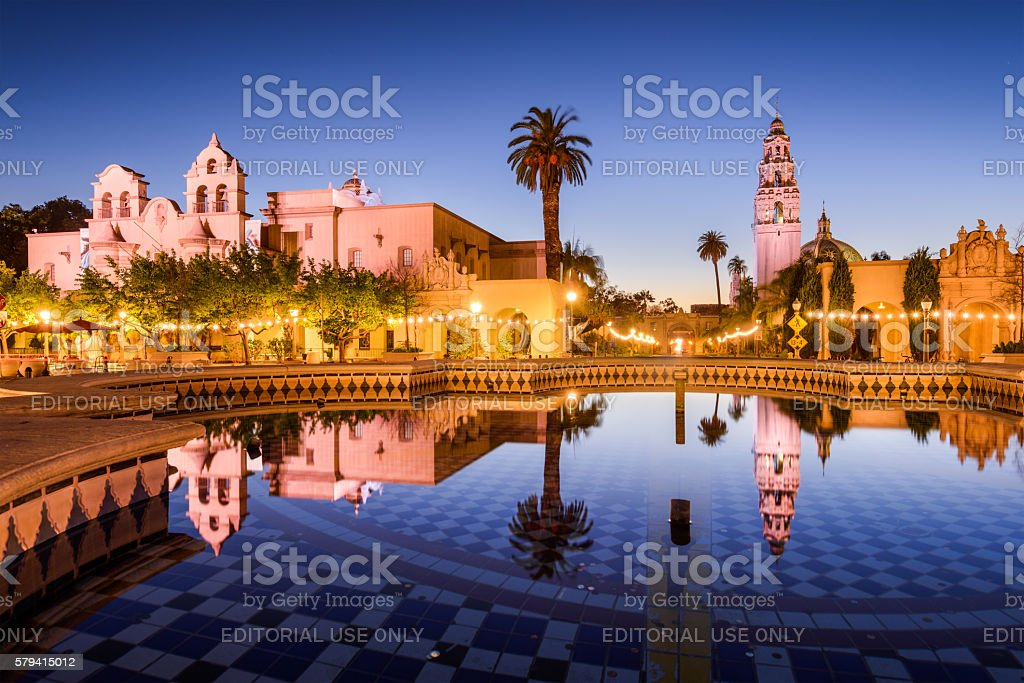 San Diego, California at balboa Park. stock photo