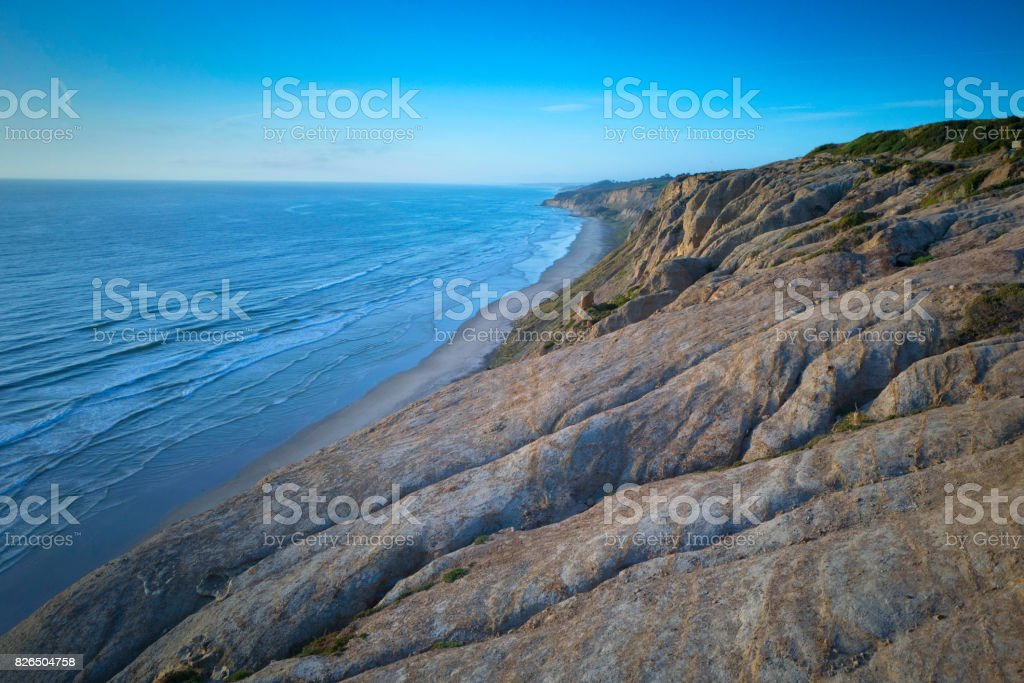 San Diego California Coastline stock photo