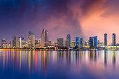 San Diego, California, USA skyline.