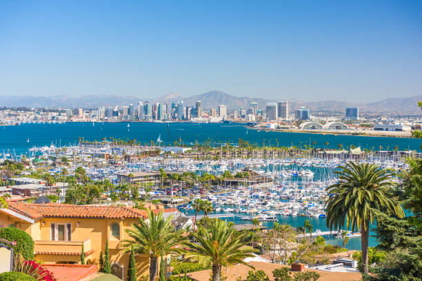 San Diego, California, USA Cityscape stock photo