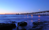 'O.B. Pier in San Diego,CA at dusk.See My Pier Lightbox'