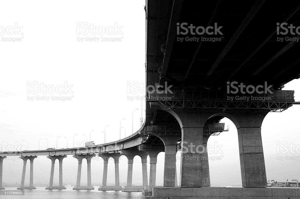 San Diego Coronado Bay Bridge Arc stock photo
