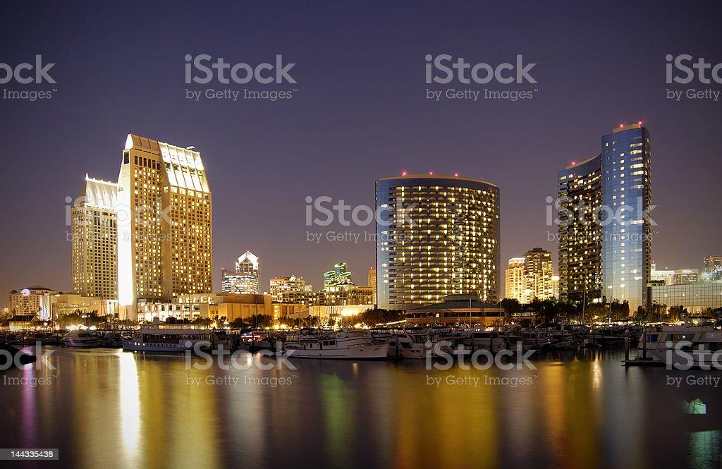 San Diego downtown marina royalty-free stock photo