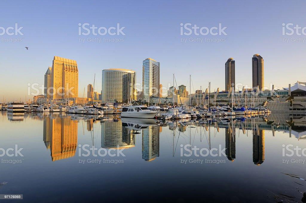 San Diego downtown skyline royalty-free stock photo