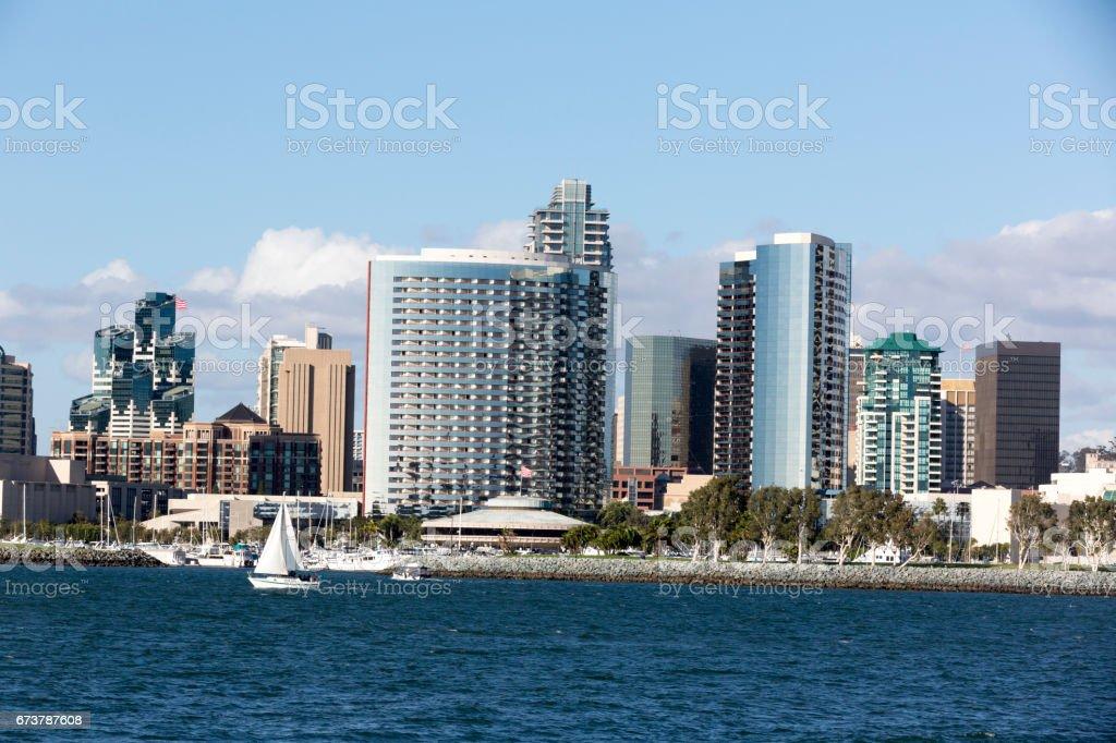 San Diego pendant la journée en vue de la baie photo libre de droits