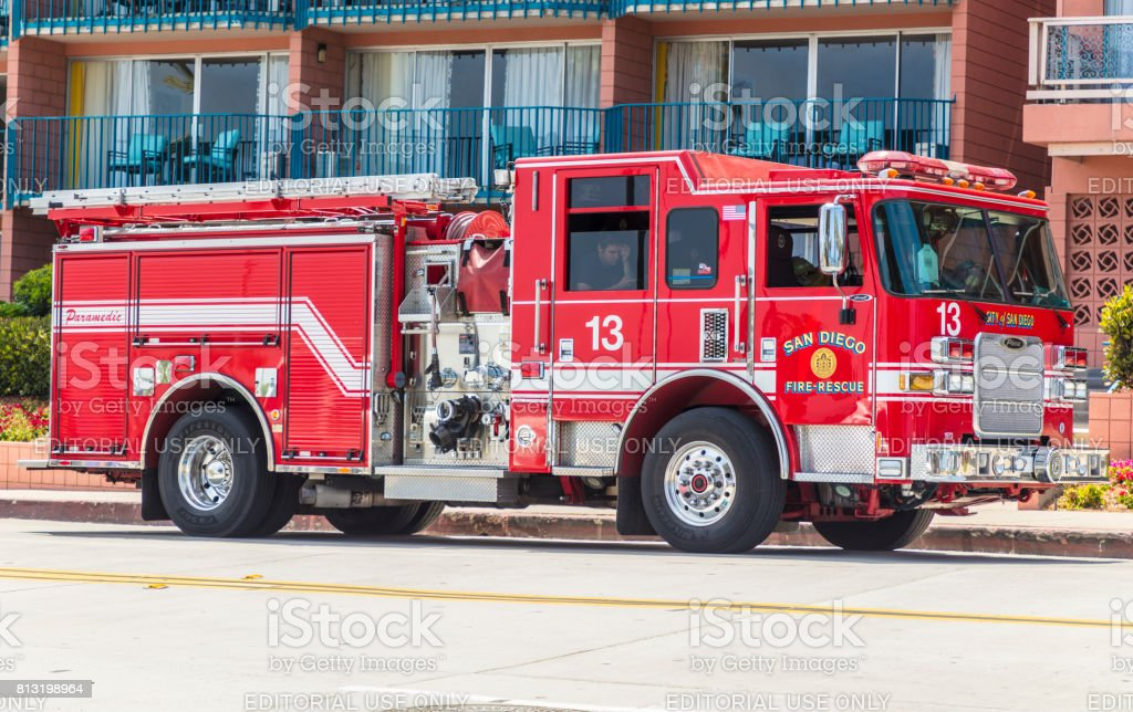 San Diego Fire Truck Stock Photo & More Pictures of